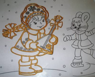 Как нарисовать новогодний рисунок